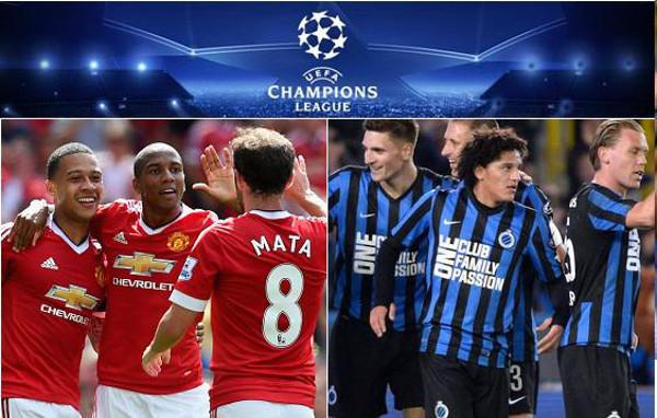 Prediksi 19 agustus 2015 Manchester United vs Club Brugge