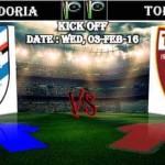 Prediksi Bola Sampdoria vs Torino 4 Februari 2016